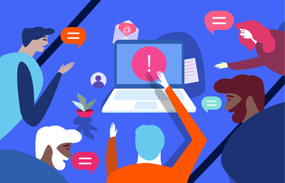 How to deal with negative feedback on an online community platform