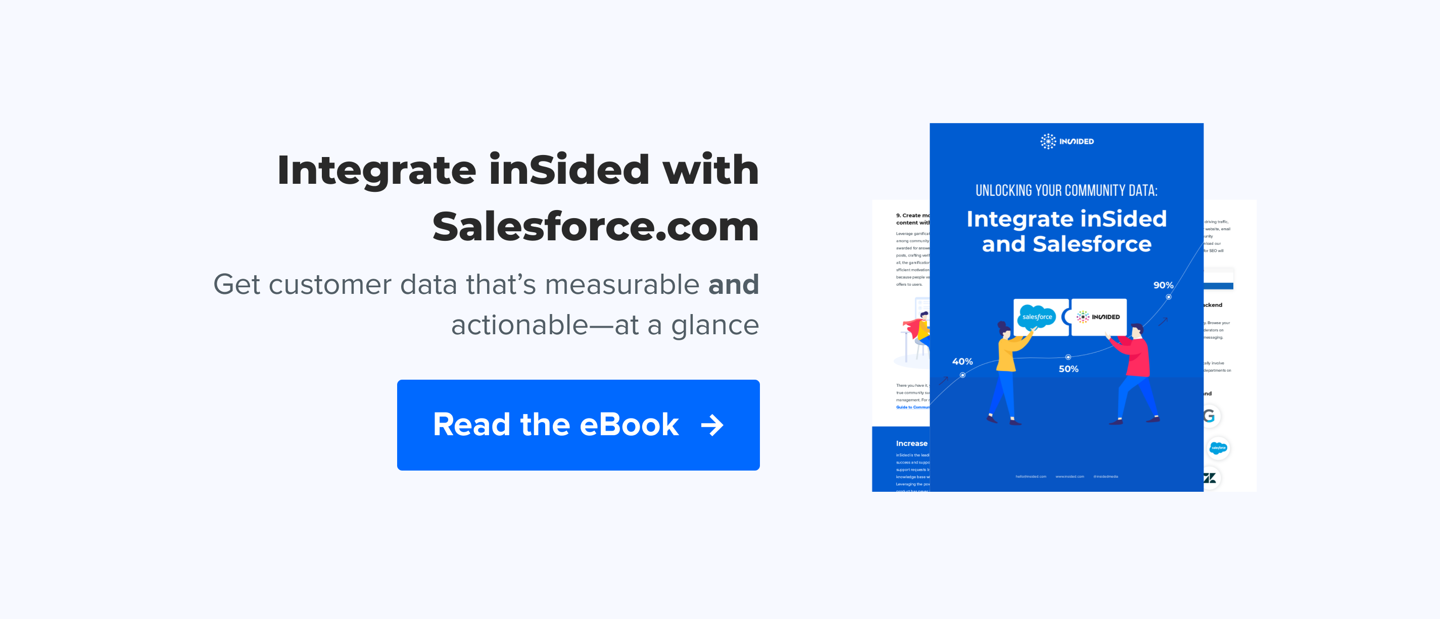 SFDC integration pillar page CTA