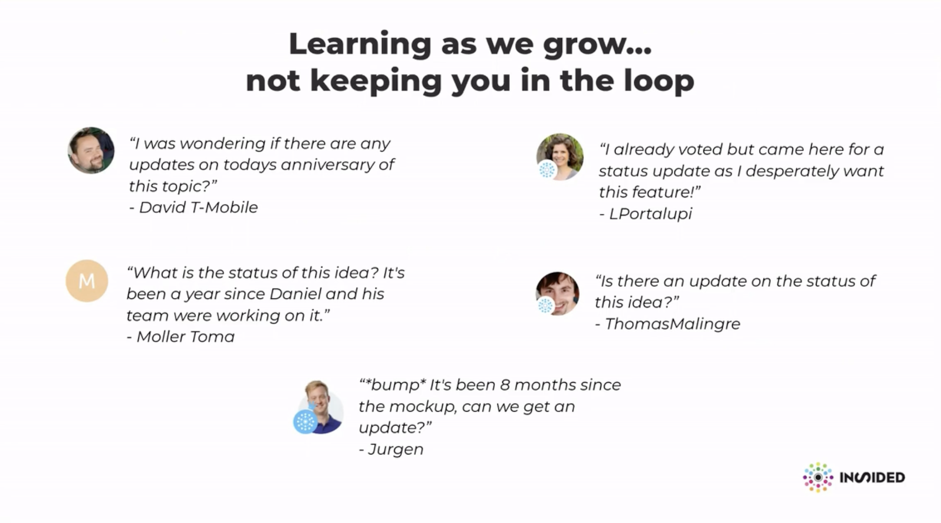 Presentation slide from our 2019 inSpired customer event