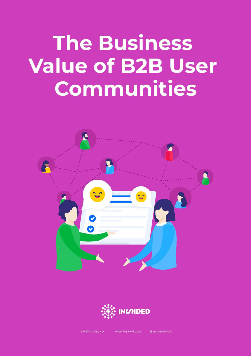 The Business Value of B2B User Communities cover
