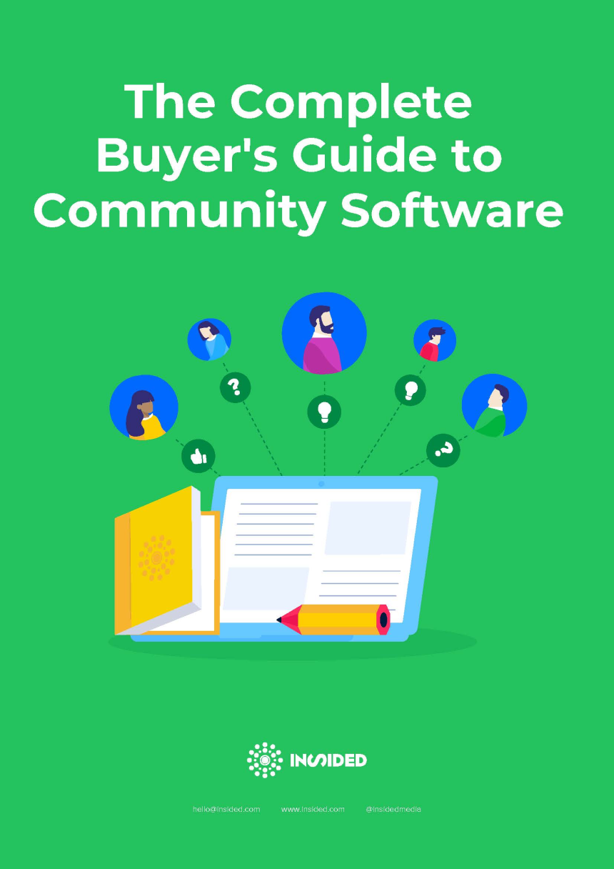 The Complete Buyers Guide to Community Software cover